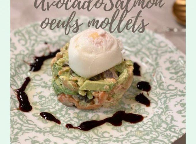 アボカドサーモンレシピ、ビューティフード、ポーチドエッグレシピ、減量美食前菜